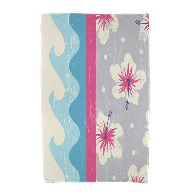 Floral Print Beach Towel Color: Pink