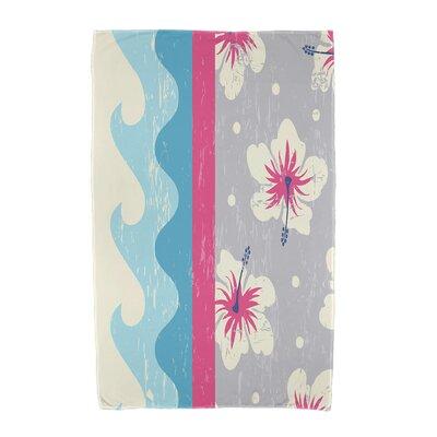 Floral Print Beach Towel Color: Pink