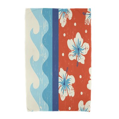 Floral Print Beach Towel Color: Orange