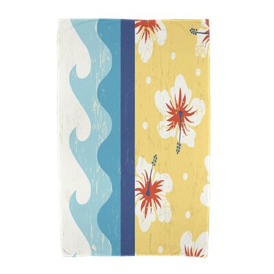 Floral Print Beach Towel Color: Yellow