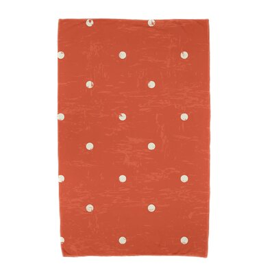 Polka Dot Beach Towel Color: Orange
