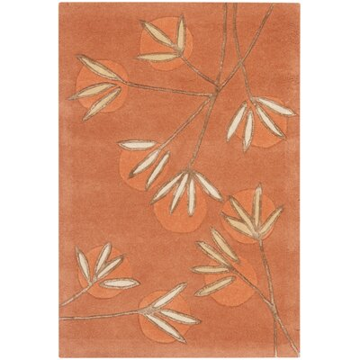 Felton Hand-Tufted Rust Area Rug Rug Size: Rectangle 5 x 8