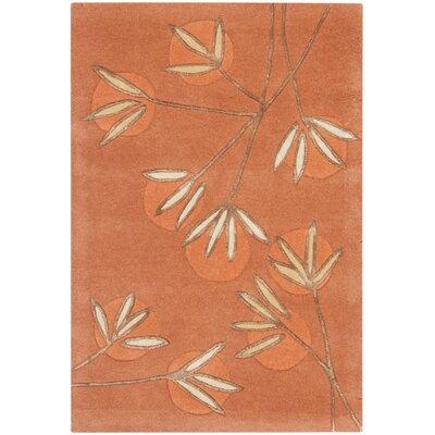 Felton Hand-Tufted Rust Area Rug Rug Size: 96 x 136