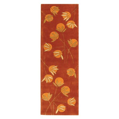 Felton Hand-Tufted Rust Area Rug Rug Size: Rectangle 26 x 12