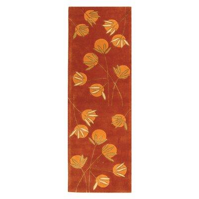 Felton Hand-Tufted Rust Area Rug Rug Size: 26 x 8