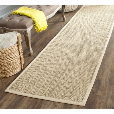 Carsten Natural/Light Beige Area Rug Rug Size: Runner 26 x 14