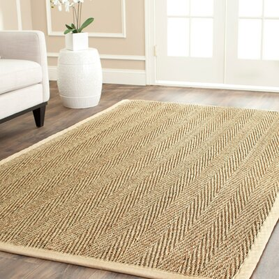 Carsten Natural/Light Beige Area Rug Rug Size: 4 x 6