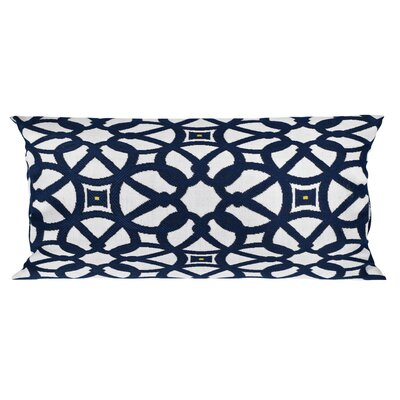 Trinidad Outdoor Lumbar Pillow Color: Luxe Indigo