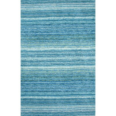 Acklins Hand-Tufted Sky Blue Area Rug Rug Size: 5 x 8