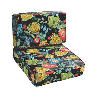 Mia Floral 2 Piece Outdoor Chair Cushion Set