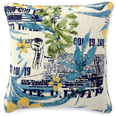 Key Cove Print Throw Pillow Size: Large
