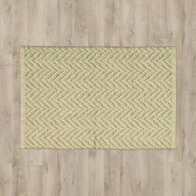 Antigua Light Green/Beige Area Rug Rug Size: 2' x 3'