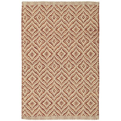 Templos Red/Cream Area Rug Rug Size: 2 x 3