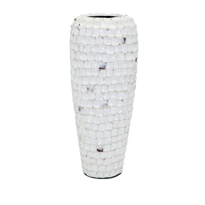 Shell Vase Size: 21.25 H x 9 W x 9 D