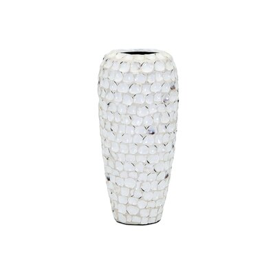 Shell Vase Size: 16.75 H x 8 W x 8 D