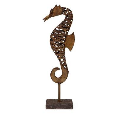 Metal Seahorse on Stand Figurine