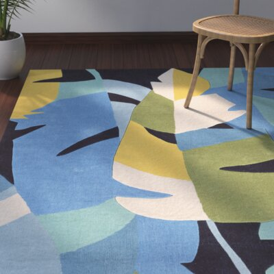 Kimana Hand-Tufted Blue Area Rug Rug Size: Rectangle 110 x 210