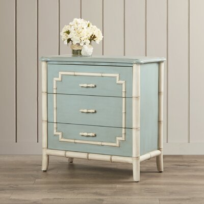 Serpentine 3 Drawer Trim Chest