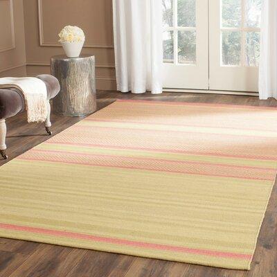 Naupaka Hand-Woven Lime/Pink Area Rug Rug Size: Rectangle 9 x 12