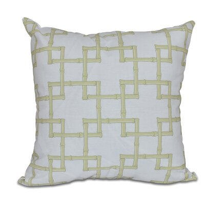 Connelly Bamboo 2 Geometric Throw Pillow Color: Green, Size: 26 H x 26 W
