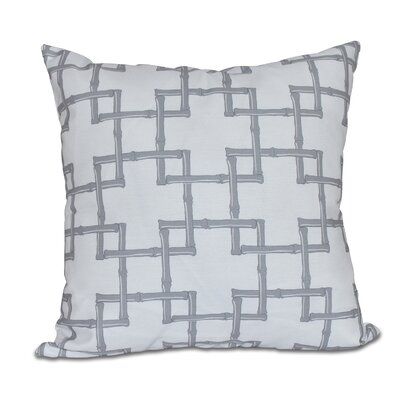 Connelly Bamboo 2 Geometric Throw Pillow Size: 18 H x 18 W, Color: Gray