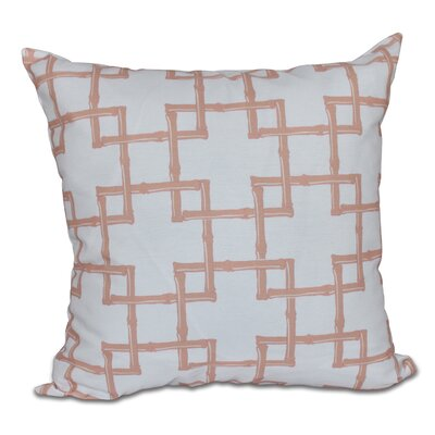 Connelly Bamboo 2 Geometric Throw Pillow Size: 16 H x 16 W, Color: Coral