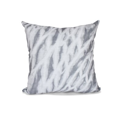Grand Ridge Shibori Stripe Geometric Throw Pillow Size: 26 H x 26 W, Color: Gray