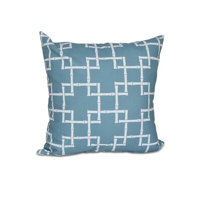Connelly Bamboo 1 Geometric Throw Pillow Size: 16 H x 16 W, Color: Teal