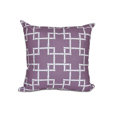 Connelly Bamboo 1 Geometric Throw Pillow Color: Purple, Size: 20 H x 20 W