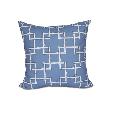 Connelly Bamboo 1 Geometric Throw Pillow Size: 16 H x 16 W, Color: Blue