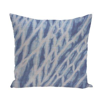 Grand Ridge Shibori Stripe Geometric Outdoor Throw Pillow Size: 20 H x 20 W, Color: Blue