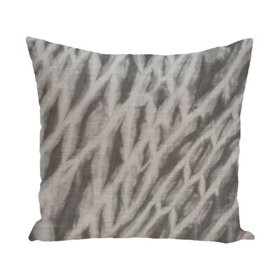 Grand Ridge Shibori Stripe Geometric Outdoor Throw Pillow Size: 20 H x 20 W, Color: Gray