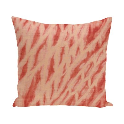 Grand Ridge Shibori Stripe Geometric Outdoor Throw Pillow Size: 20 H x 20 W, Color: Coral