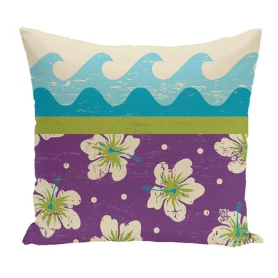 Golden Beach Floral Throw Pillow Size: 26 H x 26 W, Color: Light Green