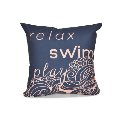 Grand Ridge Word Outdoor Throw Pillow Size: 16 H x 16 W