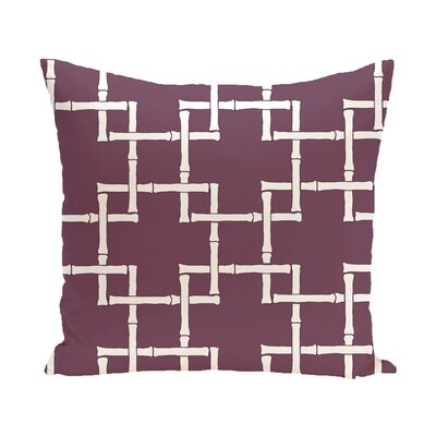 Connelly Bamboo Geometric Outdoor Throw Pillow Color: Purple, Size: 16 H x 16 W