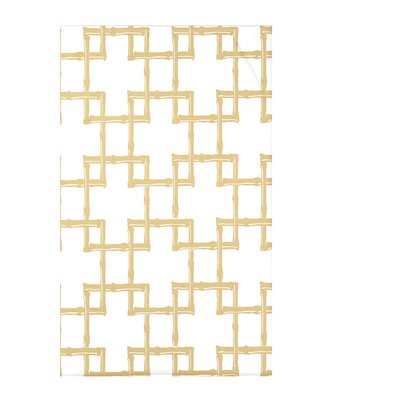 Connelly Bamboo 2 Geometric Fleece Throw Blanket Size: 60 L x 50 W x 0.5 D, Color: Gold