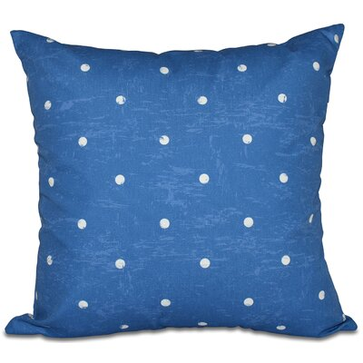 Golden Beach Dorothy Dot Geometric Outdoor Throw Pillow Size: 18 H x 18 W, Color: Blue
