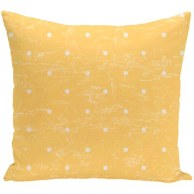 Golden Beach Dorothy Dot Geometric Outdoor Throw Pillow Size: 18 H x 18 W, Color: Yellow