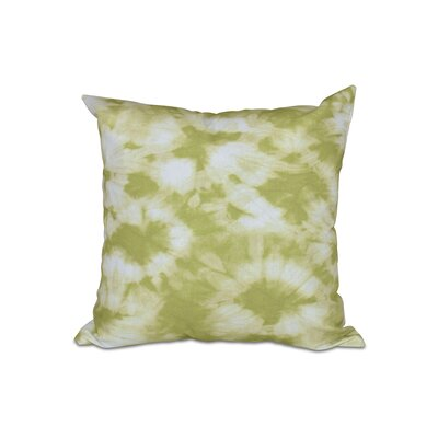 Golden Beach Chillax Geometric Outdoor Throw Pillow Color: Light Green, Size: 18 H x 18 W