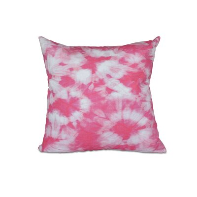 Golden Beach Chillax Geometric Outdoor Throw Pillow Size: 18 H x 18 W, Color: Pink