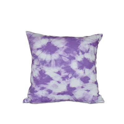Golden Beach Chillax Geometric Outdoor Throw Pillow Size: 18 H x 18 W, Color: Purple