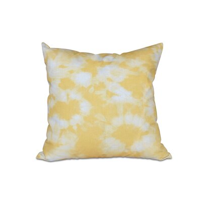 Golden Beach Chillax Geometric Outdoor Throw Pillow Size: 18 H x 18 W, Color: Yellow