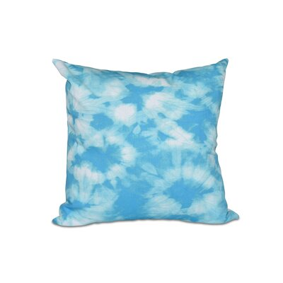 Golden Beach Chillax Geometric Outdoor Throw Pillow Size: 18 H x 18 W, Color: Turquoise