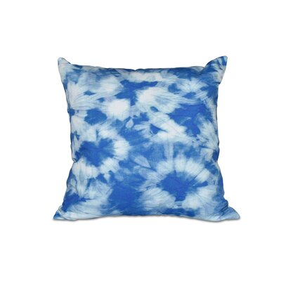 Golden Beach Chillax Geometric Outdoor Throw Pillow Size: 20 H x 20 W, Color: Blue