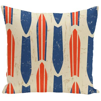 Golden Beach Dean Geometric Outdoor Throw Pillow Size: 18 H x 18 W, Color: Orange