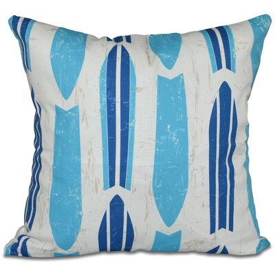 Golden Beach Dean Geometric Outdoor Throw Pillow Size: 18 H x 18 W, Color: Turquoise