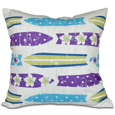 Golden Beach Dean Geometric Outdoor Throw Pillow Size: 20 H x 20 W, Color: Purple