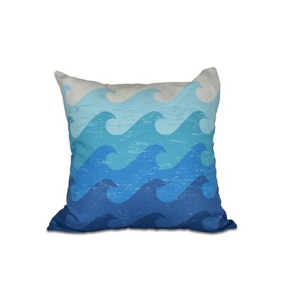 Golden Beach Deep Sea Outdoor Throw Pillow Size: 20 H x 20 W, Color: Blue