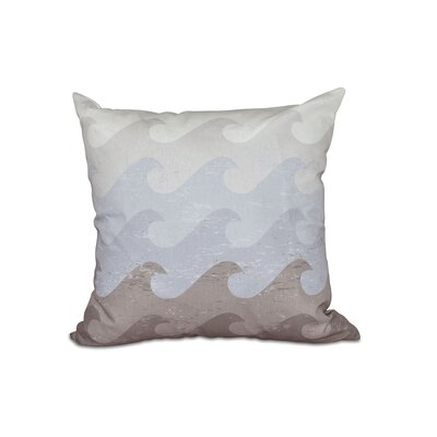 Golden Beach Deep Sea Outdoor Throw Pillow Size: 18 H x 18 W, Color: Taupe/Gray